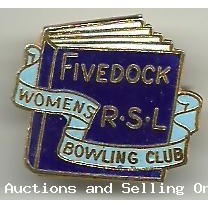 Fivedock R.S.L Womens Bowling Club Badge