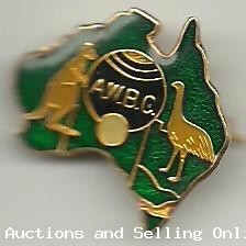 AWBC Australian Women Bowling Club Badge