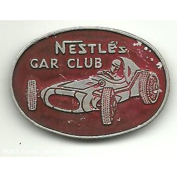 Nestle's Car Club Badge with Denham Neal & Treloar trademark