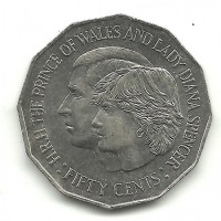 1981 Royal Wedding Australian 50 cent Coin