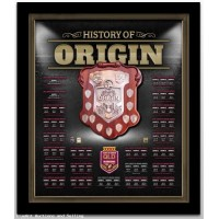 State Of Origin 100th Match History of Queensland Framed Shield
